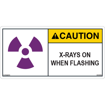 ANSI Safety Label - Caution - X-Ray - When Flashing