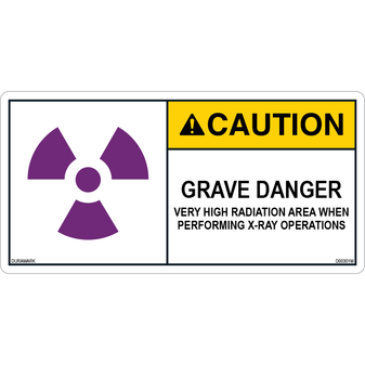 ANSI Safety Label - Caution - X-Ray - Grave Danger