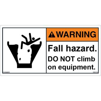 ANSI Safety Label - Warning - Fall Hazard