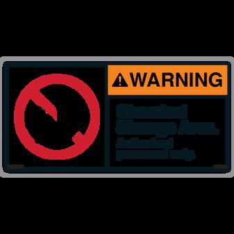 ANSI Safety Label - Warning - Chemical Storage Area