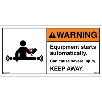 ANSI Safety Label - Warning - Automatic Start