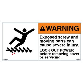 ANSI Safety Label - Warning - Exposed Screw