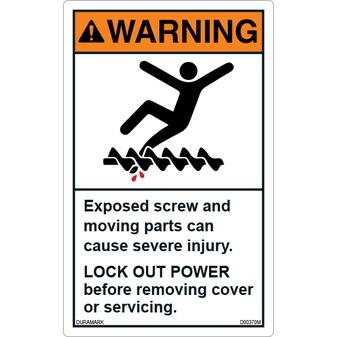 ANSI Safety Label - Warning - Lock Out Power
