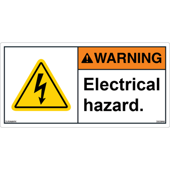 ANSI Safety Label - Warning - Electrical Hazard