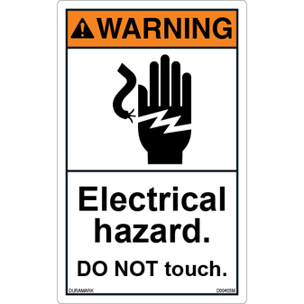 ANSI Safety Label - Warning - Electrical Hazard - Do Not Touch