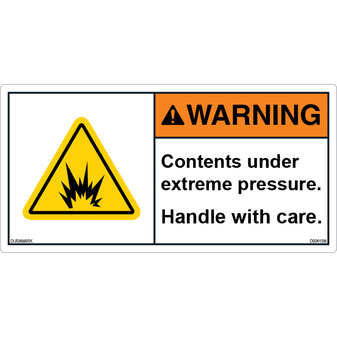 ANSI Safety Label - Warning - Handle With Care