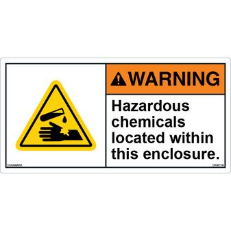 ANSI Safety Label - Warning - Hazardous Chemicals
