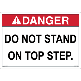 ANSI Safety Label - Danger - Do Not Stand