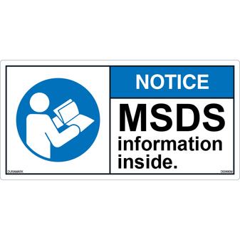 ANSI Safety Label - Notice - MSDS Information