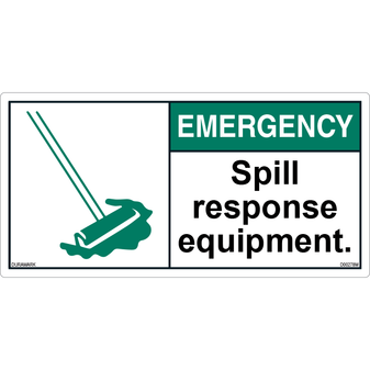 ANSI Safety Label - Important - Spill Response Equipment - Horizontal