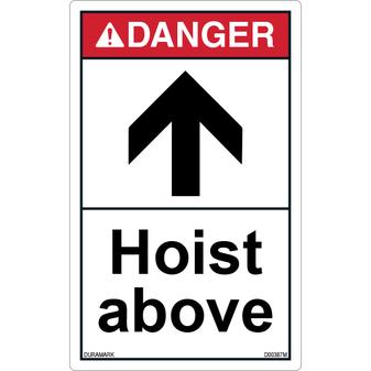 ANSI Safety Label - Danger - Hoist Above - Vertical