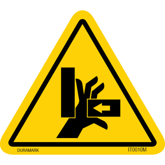 ISO safety label - Triangle - Hand Crush/Pinch Point