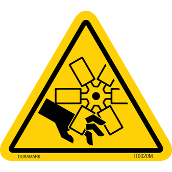ISO safety label - Triangle - Fan Blade Cut