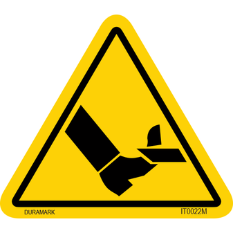 ISO safety label - Triangle - Leg Cut - Slice