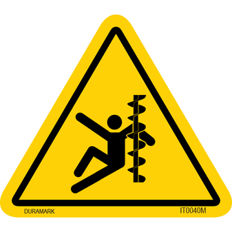 ISO safety label - Triangle - Entaglement - Arm