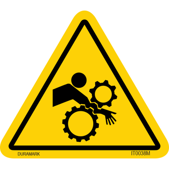 ISO safety label - Triangle - Entanglement - Arm - Gear