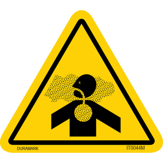 ISO safety label - Triangle - Inhalation - Dust