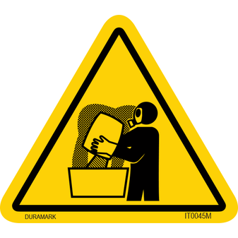 ISO safety label - Triangle - Inhalation - Fumes