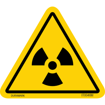 ISO safety label - Triangle - Exposure - Radiation