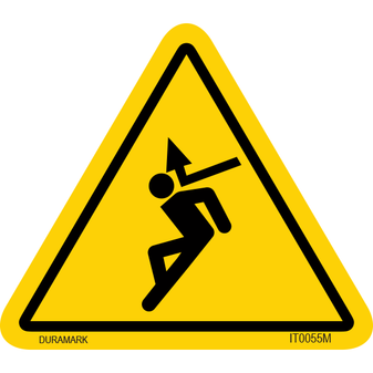 ISO safety label - Triangle - Flying Object - Back of Head