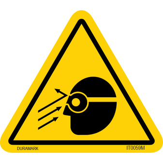 ISO safety label - Triangle - Falling Object - Face - Protective Goggles