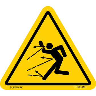 ISO safety label - Triangle - Flying Object - Full Body