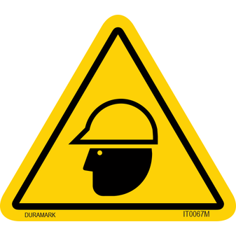 ISO safety label - Triangle - Head Protection