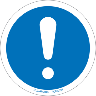 ISO safety label - Circle - Alert/Attention