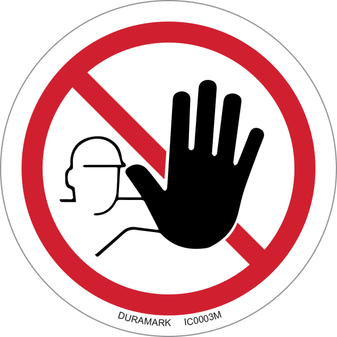 ISO safety label - Circle - Prohibited - No Unauthorized Access