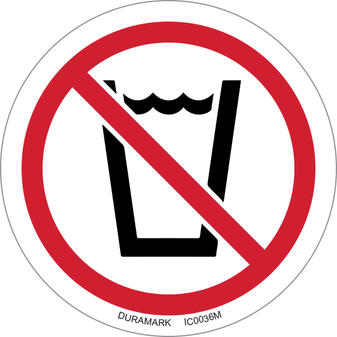 ISO safety label - Circle - Prohibited - No Drinking Water