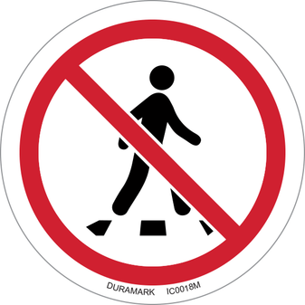 ISO safety label - Circle - Prohibited - No Thoroughfare