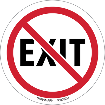 ISO safety label - Circle - Prohibited - No Exit