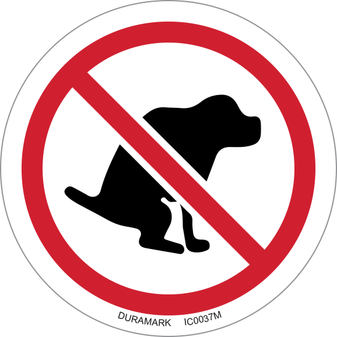 ISO safety label - Circle - Prohibited - No Dog Poop