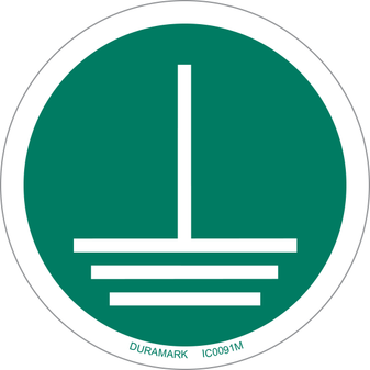 ISO safety label - Circle - Mandatory - Disconnect Mains Plug