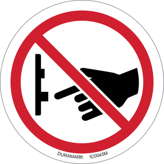 ISO safety label - Circle - Prohibited - Do Not Turn Off Switch - Button Bottom