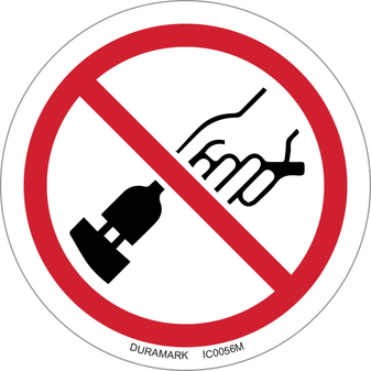 ISO safety label - Circle - Prohibited - Do Not Remove Plug