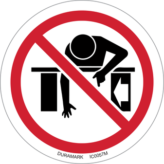 ISO safety label - Circle - Prohibited - Do Not Reach Into