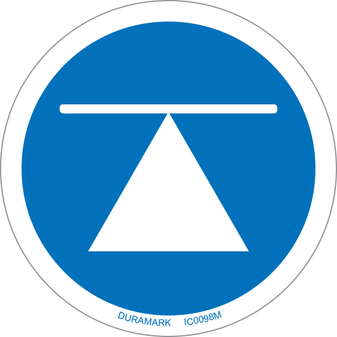 ISO safety label - Circle - Mandatory - Center Of Gravity