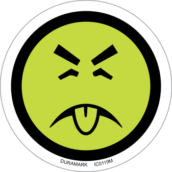 ISO safety label - Circle - Mr. Yuck Child Warning For Dangerous Substances