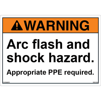 ANSI Safety Label - Warning - Arc Flash