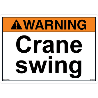 ANSI Safety Label - Warning - Crane Swing