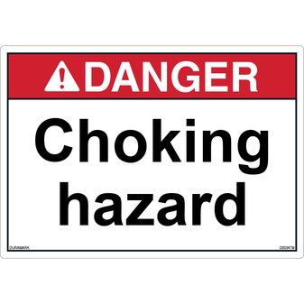 ANSI Safety Label - Danger - Choking Hazard