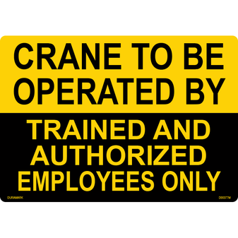 ANSI Safety Label - Crane Operated by Trained Employees