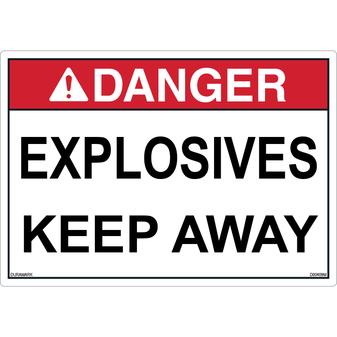 ANSI Safety Label - Danger - Explosives - Keep Away