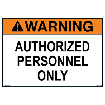 ANSI Safety Label - Warning - Authorized Personnel Only
