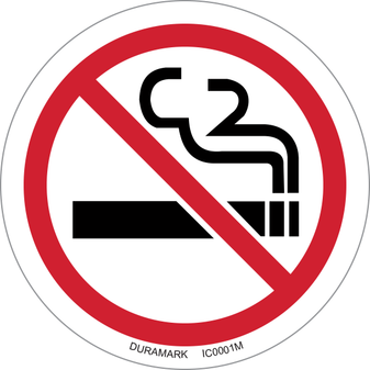 ISO safety label - Circle - Prohibited - No Smoking