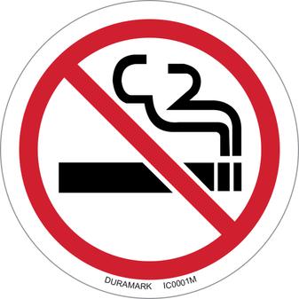 ISO safety label - Circle - Prohibited - No Smoking