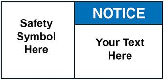 Custom Notice Label with Symbol