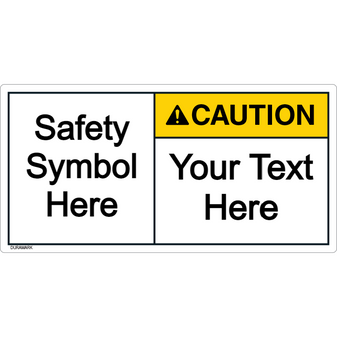 Custom Caution Label with Symbol