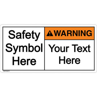 Custom Warning Label with Symbol